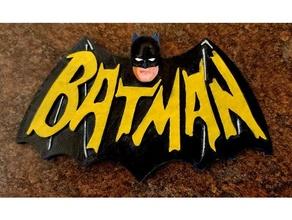 batman 1966 télé séries logo 3d visage
