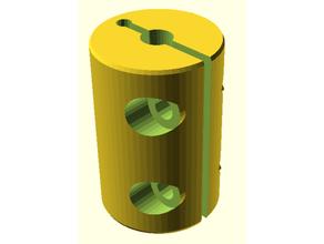 axis coupler remix parametric openscad 5mm 8mm 5mm 8mm coupler coupler kupplung openscad parametric stepper coupler z-kupplung coupler