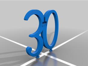 30 30 Geburtstag Kuchen Geburtstag Dekoration Kuchen Topper glücklich Geburtstag glücklich Geburtstag Logo Kitty