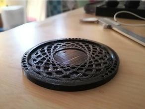 quick yeti cup coaster atom pattern coaster drink coaster
