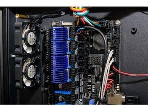 hiprecy León doble 40 mm ventilador monta