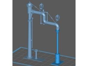 acqua gru vapore locomotive modello modello treni