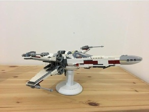 stand lego x-wing 75102 aircraft lego stand star wars support vessel xwing