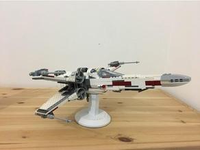 ficar pé Lego asa x 75102 aeronave Lego ficar pé Estrela guerras suporte embarcação xwing
