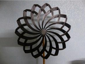 220 mm fleur forme moulin vent Balle palier moulin vent tordu Windrad