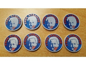 'free assange' color coin eg shopping carts printer assange coin journalist julian julian assange politics shopping shopping cart shopping cart coin shopping token shopping trolley coin