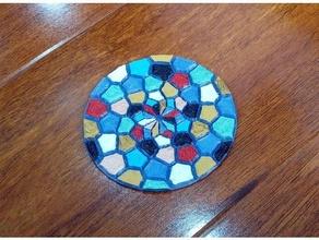 voronoi & fibonacci coaster fibonacci fibonacci spiral mosaic spiral voronoi