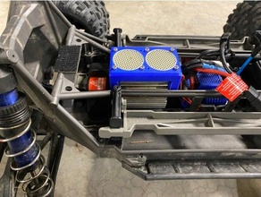 xmaxx single piece motor fan mount traxxas traxxas xmaxx xmaxx