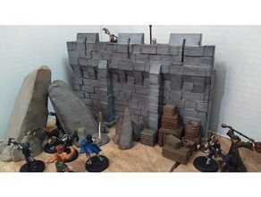 pared 28mm castillo dnd dnd miniatura mazmorras dragones terreno pared juego guerra terreno