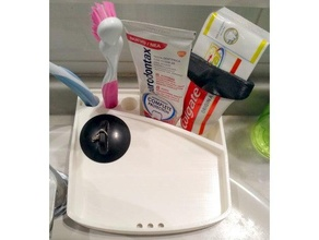 cuenca jabón soporte porta pinchazo lavabo