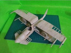 xteamfigther 2 aeronave biplano modelo kit modelo Guerra Estrelas Steampunk xwing