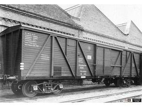 russo 50t vagão carga virilhas modelo trens