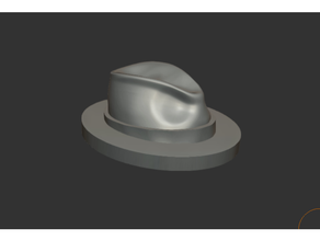 miniatura fedora cappello stampabile cerchio 28mm 32mm scala 28mm 32mm cappello miniatura