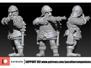 nano arquebusier artigliere fisso 28mm nano dwarve fantasia medievale rpg giochi guerra