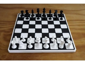 complete chess set pieces + chess board  easy print support required enjoy chess chess piece chess set ches board easy easy print support