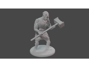 orc barbarian maul oldschool pigface dd dnd dungeons dragons figurine miniature orc orog pigface tabletop
