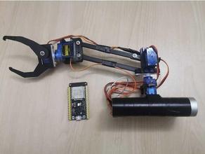 arm 4 servo control wifi android arduino arduino uno arm robotics laser cutter robot arm servo stand