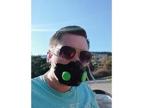 j3dp máscara trabajando aire cheque valvulas