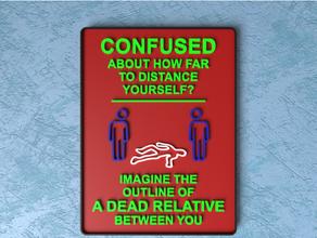 personalizzabile sicuro distanza cartello confuso coronavirus covid 19