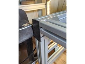 slot extrudé aluminium 40 séries 4080 embout couverture gaine