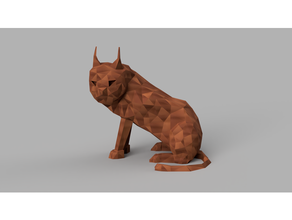 Lynx poly animaux chat poly