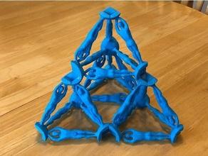 Humain pavaner isotrope vecteur matrice construction buckminster Humain cause octaèdre synergie tétraèdre vecteur équilibre