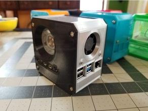 Himbeere pi 4 Mini Desktop Fall Mantel Eis Turm Kühler + sekundär pcb Kühlung Ventilator