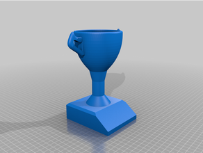 blank trophy & music trophy stl f3d files customizable f3d music trophy trophy trophy base trophy cup