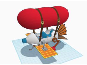 lasca 'n Vale resgate guardas dirigível avião avião aéreo dirigível desenho animado lasca Vale lasca Vale Disney gadget hackwrench Monterey macaco avião resgate guardas tinkercad zíper