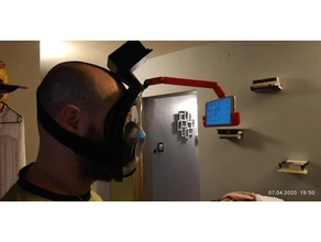covid19 mask hepa filter mount cell phone thermal camera flir eg cat s61 notouchchallenge cat s61 coronavirus face mask covid19 facecoveringchallenge flir lifesaver thermocamera