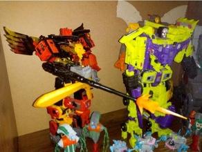 transformadores potp depredador pistola barril extensión