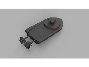 wind up Boot Dual Fahrt schraubenlos 3d gedruckt Boot Getriebe Wanne aufziehen