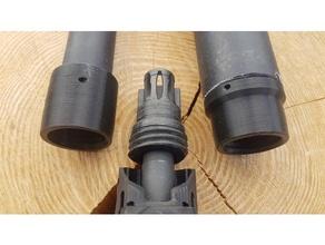 migliorata montare pvc qd silenziatore 223 223 remington 22lr airsoft silenziatore airsoft soppressore rete a2 ar15 ar 15 compensatore democrazia pvc pvc tubo fucile tiro silenziatore