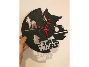 stella guerre orologio orologio Guerre stellari stella guerre parete orologio