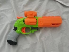 nerf doublestrike revolver cylinder rounded doublestrike doublestrike mod nerf nerf doulbestrike nerf mod revolver