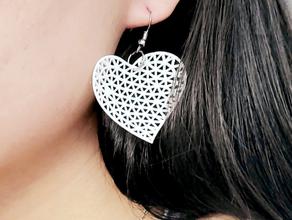 mathematical art delaunay triangulation heart shape earrings design earrings heart mathematical art
