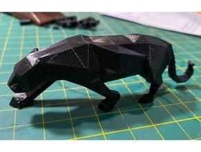 panther - poly remake animal jaguar lowpoly panther