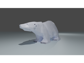 polar bear toy animal lowpoly model polarbear