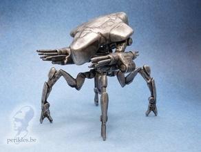 Exterminador Futuro genisys aranha tanque pré suportado 28mm jogos guerra miniatura 28mm genisys miniatura robô spidertank aranha tanque Exterminador Futuro jogos guerra