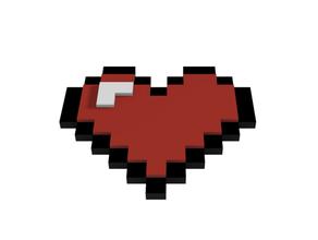 Corazon 8 morceaux 8bit Corazon Minecraft san Valentin valentines journée valentines journée cadeaux