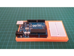 Arduino uno Mini Steckbrett Stand 3d Desinger 4max anycubic Arduino Stand Arduino uno Autodesk Erfinder Cura Erfinder Mini Steckbrett stl ulitmaker