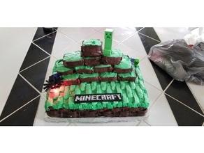 Minecraft logo gâteau topper