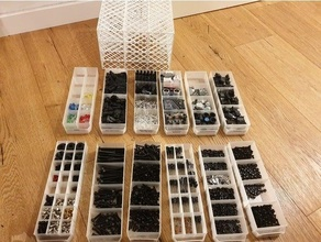 customizable modular mini drawer customizable drawers economical mini drawers modular openscad