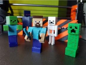 Minecraft figure impostato multi colore Minecraft Minecraft rampicante Minecraft enderman Minecraft figure Minecraft scheletro Minecraft steve Minecraft zombie