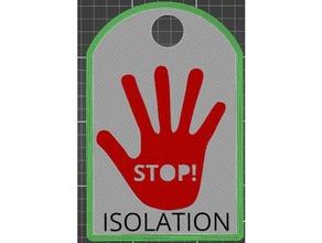 aiutare mano aiutante isolamento notouchchallenge cartello finestra