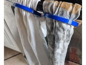 dishtowel buckle fastener toddler proof towel holder