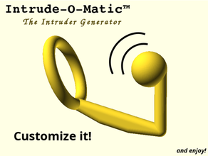 intrude-o-matic -the intruder generator adult toy adult toys anal automatic cockring customizable customizer device hook intruder male model hands openscad open scad parameterized parametric plug prostate ring scad spot stimulation stimulator stl toy