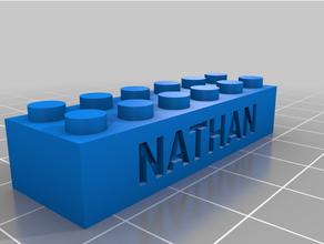 personalizzato Lego compatibile testo mattoni nathan personalizzato