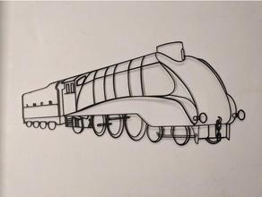 treno parete arte lner a4 vapore treno 2dart 2d arte 2d parete arte sketchup vapore motore vapore treno treno parete arte