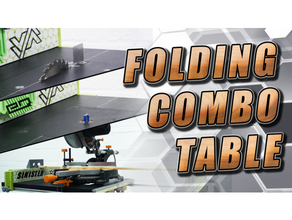 sinister - folding combination table build table router table mitre stand table components cnc router featherboard miter mitre router router table tablesaw tabletop table tool tools wood woodworking workbench